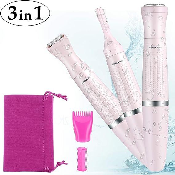 Afeitadora Juego 3 en 1, afeitadora eléctrica para cara, Cejas ...