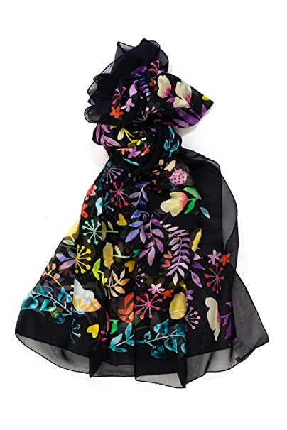 immagini dettagliate 56c9e 9179a FURLA Foulard in Seta Nero Seta Donna: Amazon.it: Abbigliamento