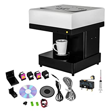 Guellin Impresora de Café 110x110mm DIY Máquina de Café 3D Impresora para Café Adecuada para Win 7 Win 8 y Win 10 en Cafetería y Bar: Amazon.es: Hogar