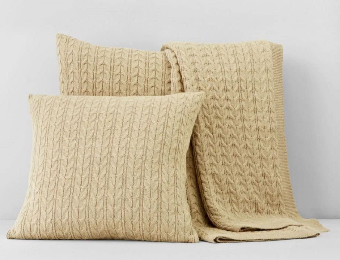 Bloomingdale s 1872 20 x20 Cable Knit Decorative Pillow, Taupe