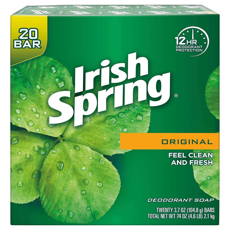 Irish Spring Original Deodorant Soap 20 x 3.75 oz. Soap Unisex