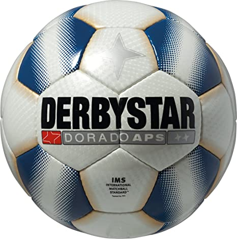 Derbystar Dorado APS - Balón de fútbol, Color Blanco y Azul ...