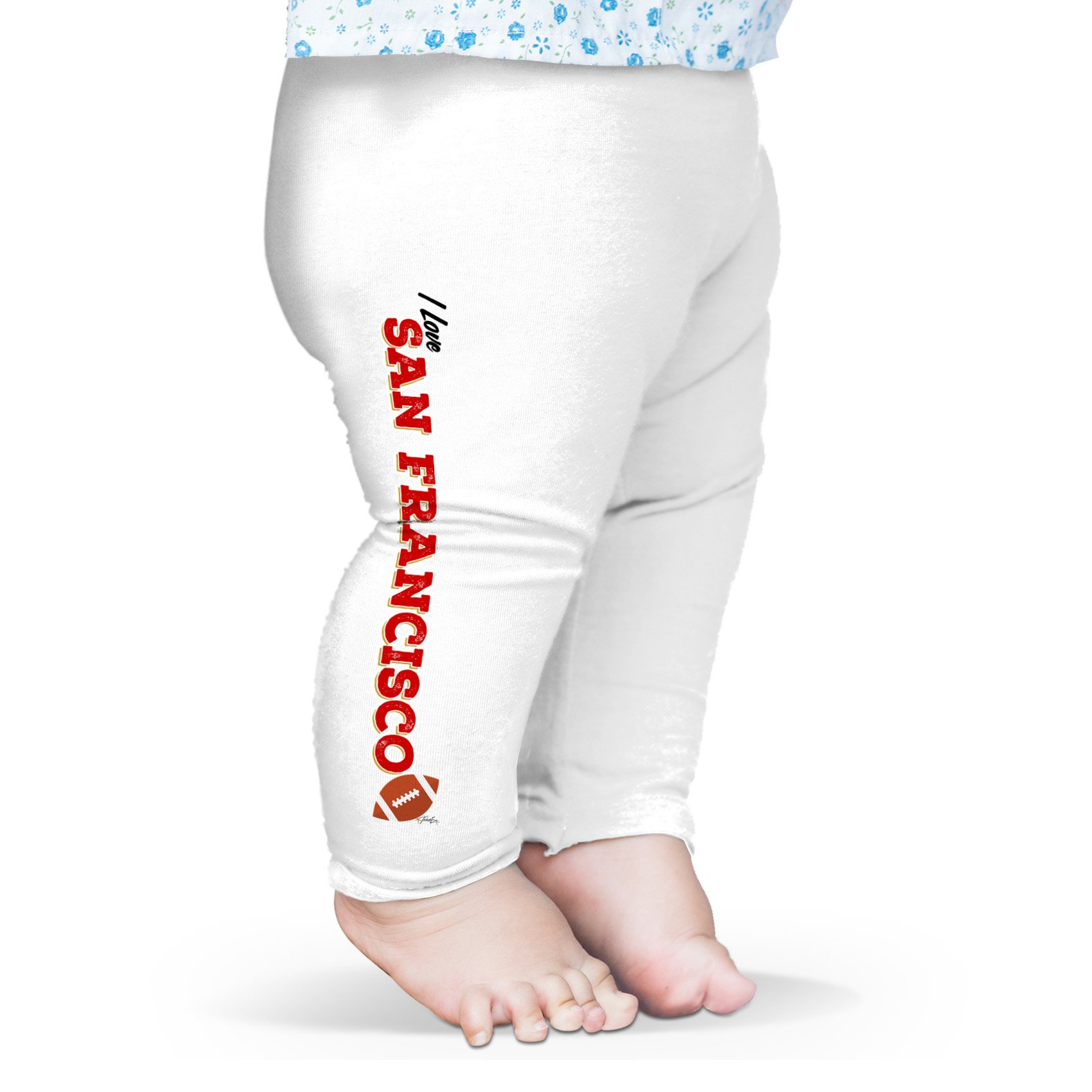 Twisted Envy Baby I Love San Francisco American Football Leggings Trousers 12-18 Months White by TWISTED ENVY (Image #1)