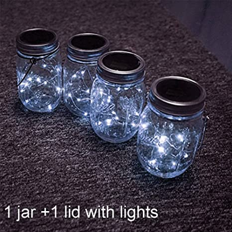 Mason Jar Lámparas solares,Mesa de jardín de LED con energía solar Luces colgantes de la linterna,Lámparas para Patio Party Árbol Christmas Holiday ...