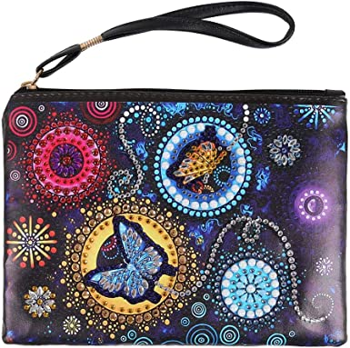DIY Special Shaped Diamond Painting PU Leather Passport Holder ID Card Cover Kit