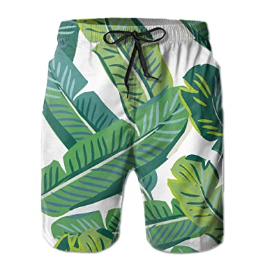 81c729113b DevonNight Mens Beach Wear Palm Tree Leaves Swim Trunks Quick-dry Board  Short