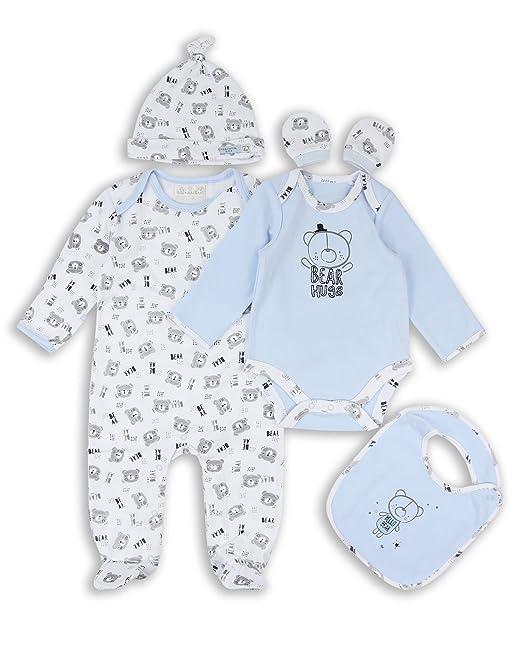 The Essential One - Bebé Niños Starter Pack Conjuntos de Ropa 5 pcs - Azul - TESS15