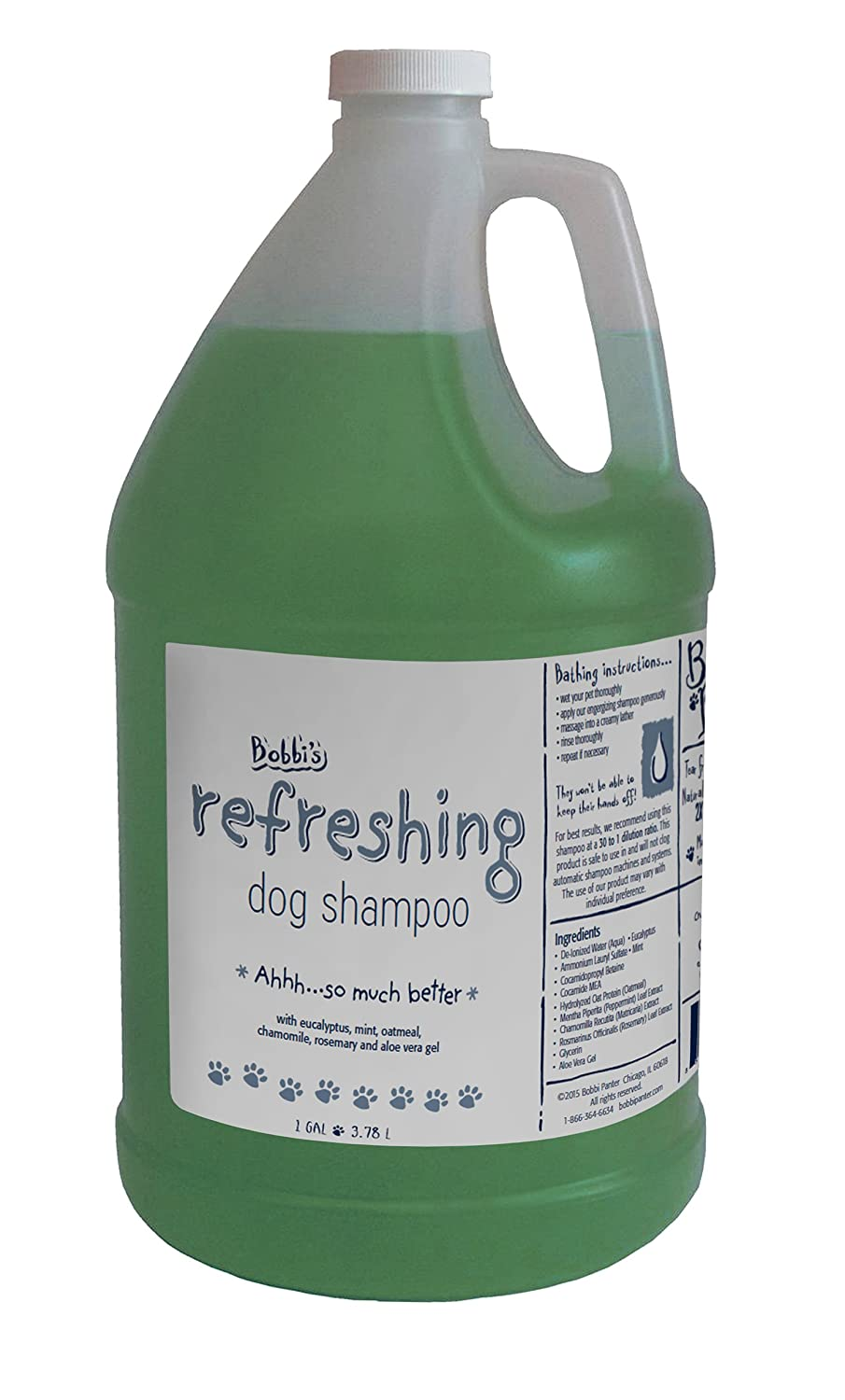 Bobbi Panter Natural Refreshing Dog Shampoo Mint Green 1 gal