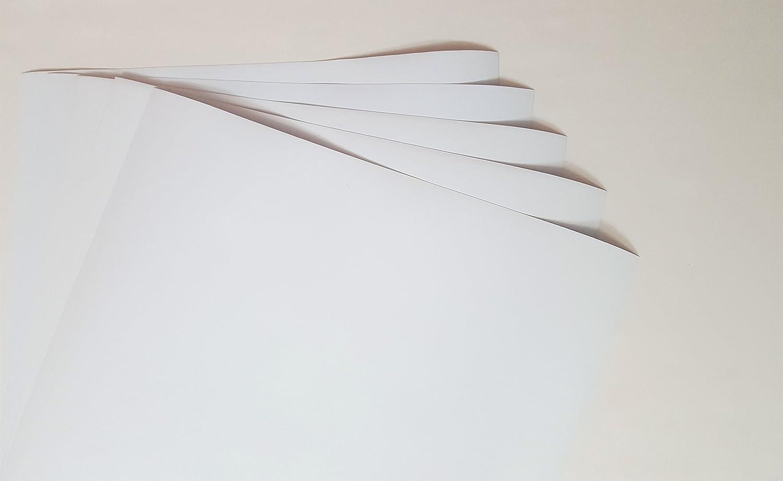 Wrap Sticker 10yr 5x A4 White Matte Gloss Self adhesive Vinyl Sheet 297x210mm