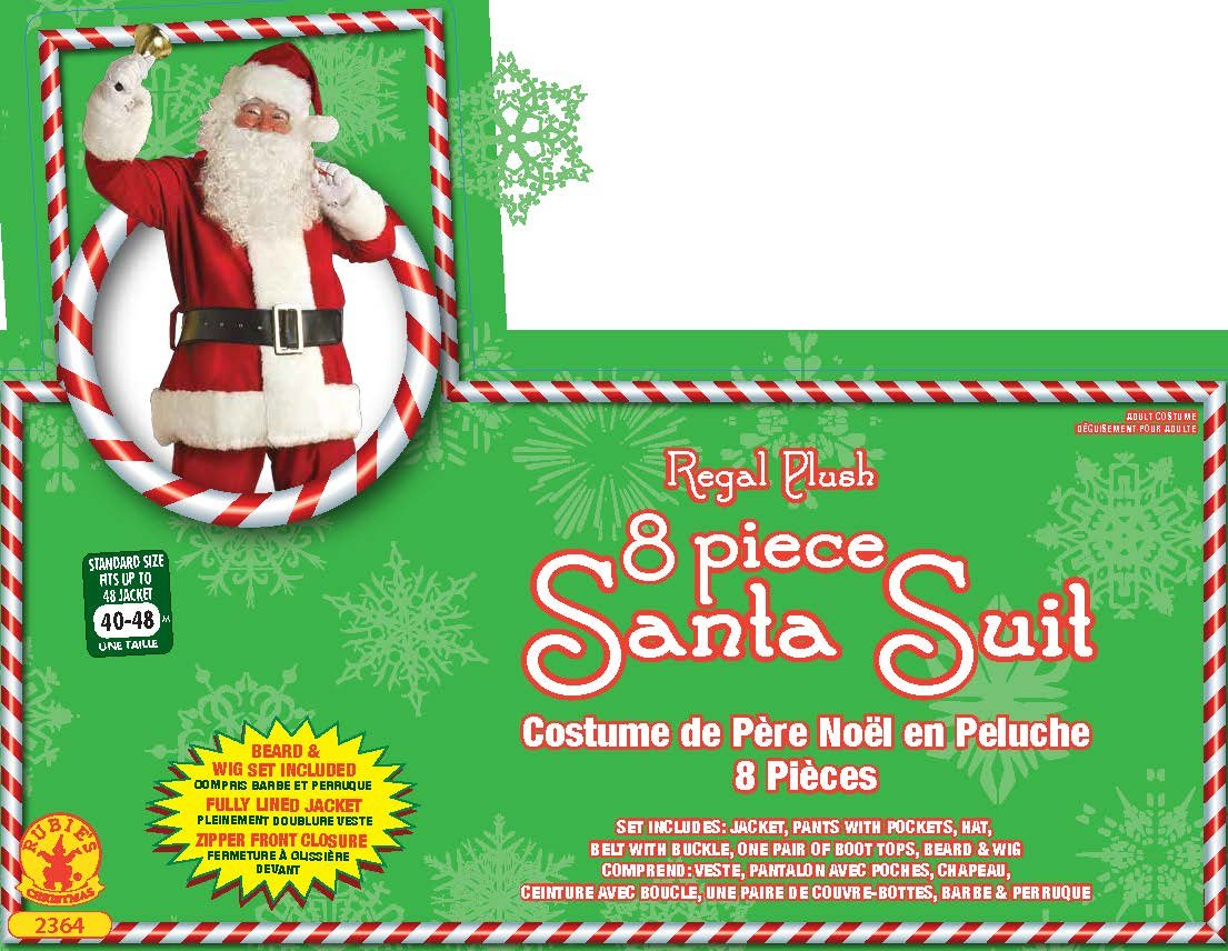 Amazon.com: Rubie\'s Deluxe Regal Santa Claus Suit, Red, Standard ...