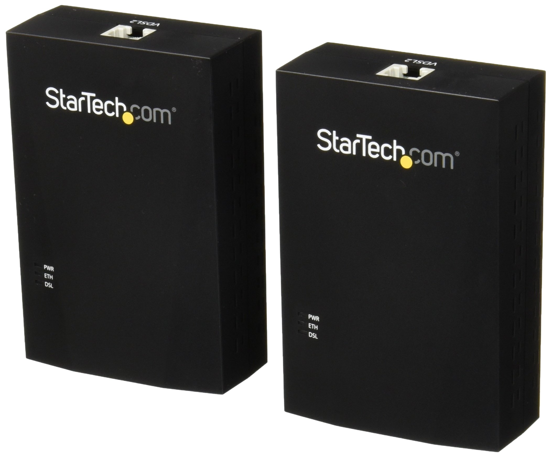 StarTech.com VDSL2 Ethernet Extender Kit Over Single-Pair Wire LAN Network Extender with ESD Ethernet Over Phone Line (110VDSLEXT2)