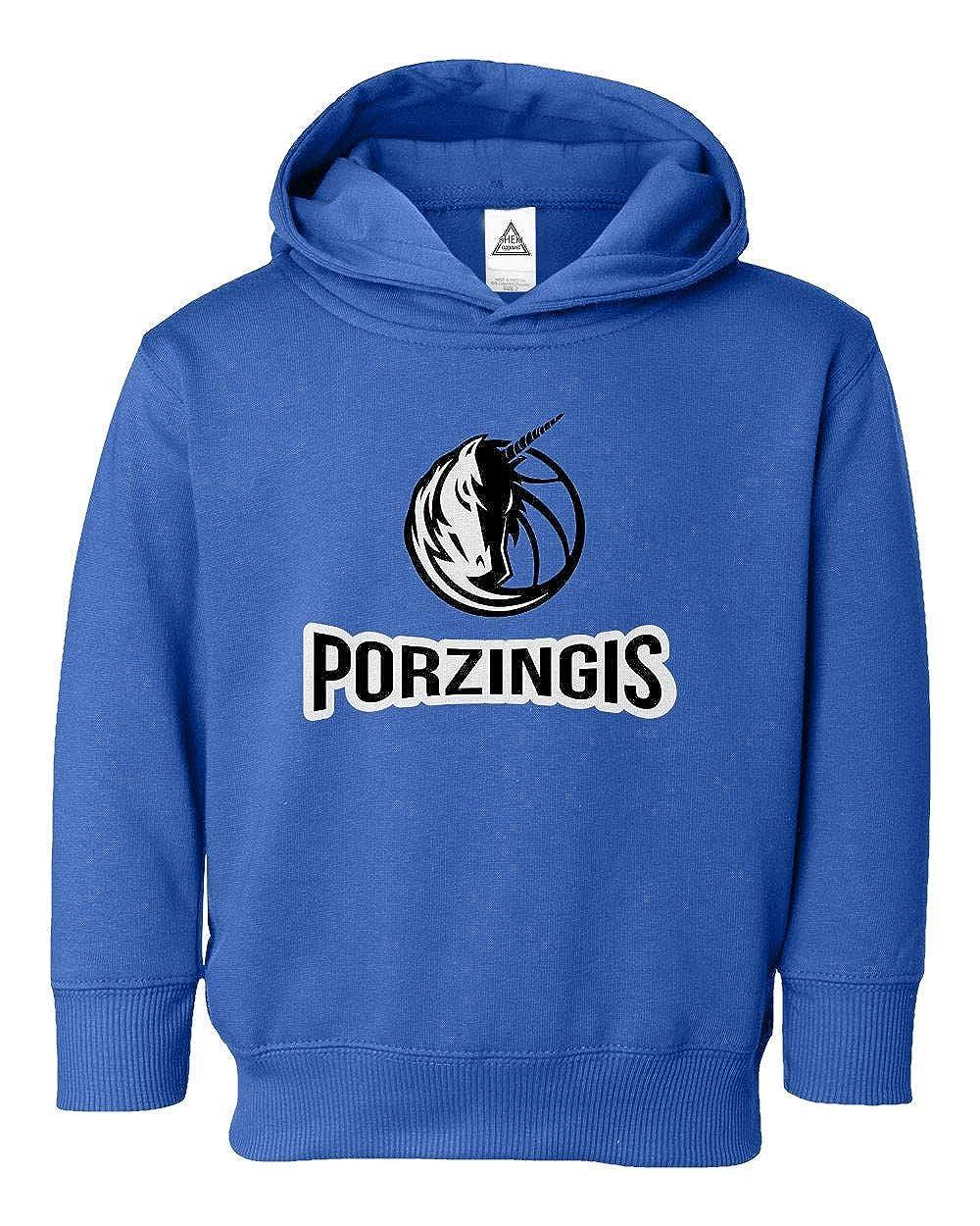 Sheki Apparel Dallas Porzingis Basketball Fans Little Kids Pullover Hoodie Toddler Sweatshirt