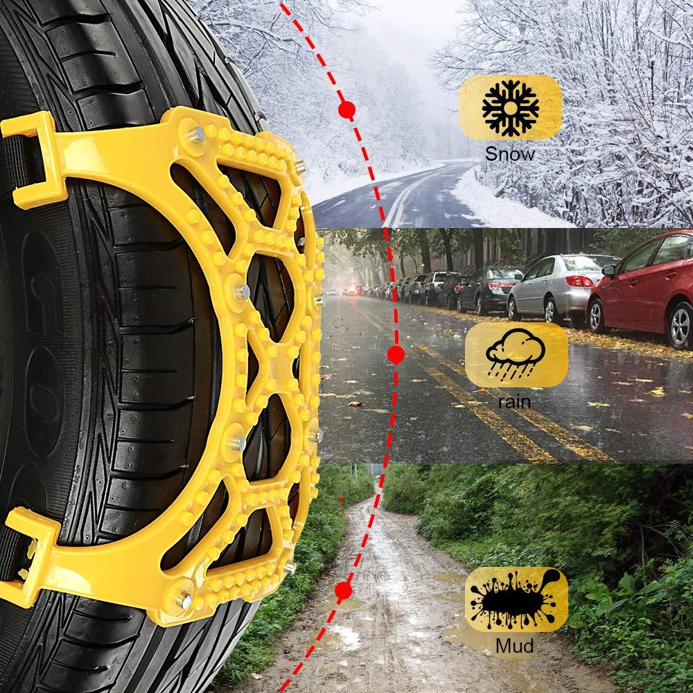 Gelb 165-265mm//6.5-10.4 Oziral Auto SchneeKetten 7 St/ück Auto Reifen Schnee Ketten f/ür den Winter Universal Ketten f/ür Notf/älle Starke Ketten f/ür die Meisten Autos SUV Lkws