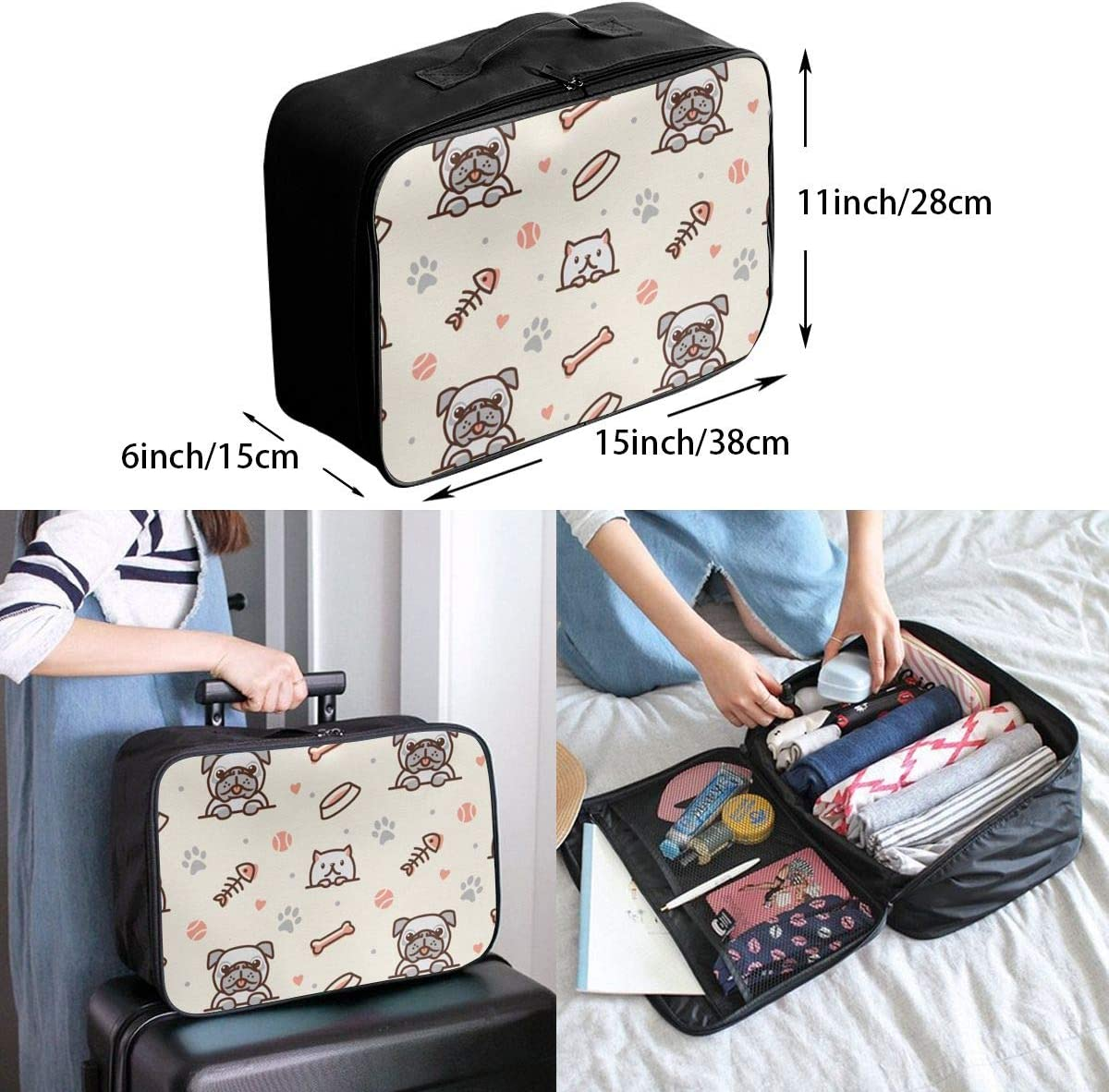 Beautiful Powerful Confident Exotic Woman Travel Carry-on Luggage Weekender Bag Overnight Tote Flight Duffel In Trolley Handle