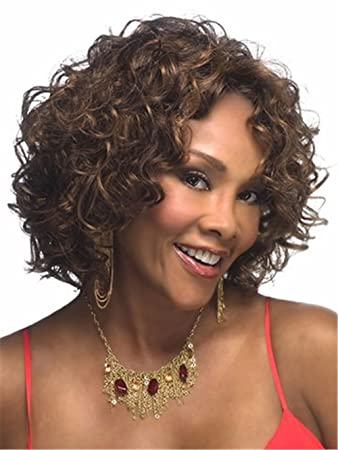YOURWIGS Short Curly Wave Hair Wigs Afro
