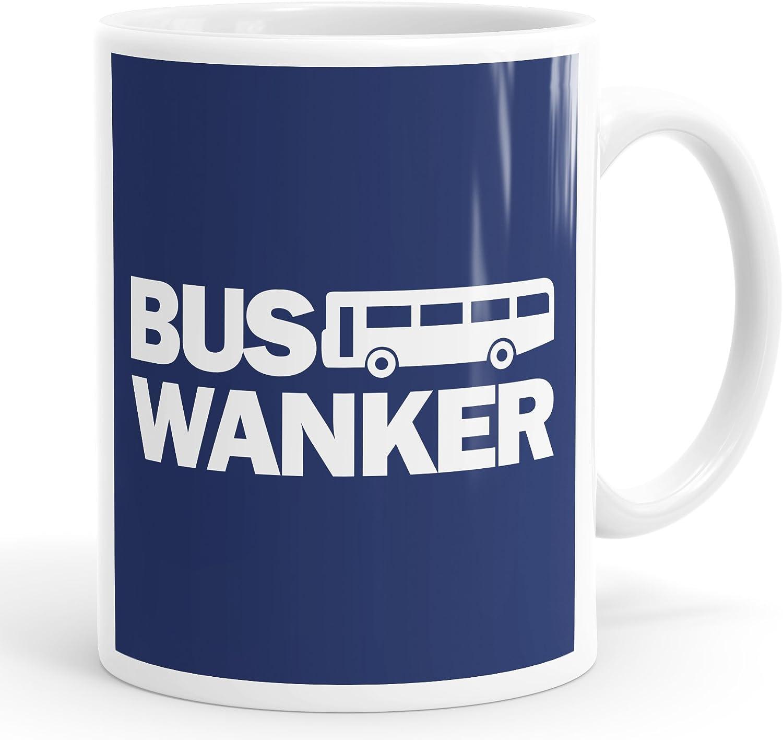 Bus Wanker Blue Mug