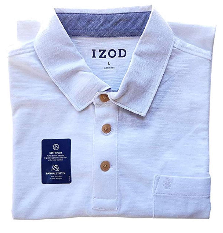 IZOD Mens Chest Pocket Slub Polo: Amazon.es: Ropa y accesorios