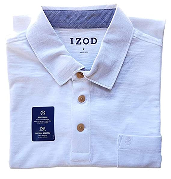 IZOD Mens Chest Pocket Slub Polo: Amazon.es: Ropa y accesorios