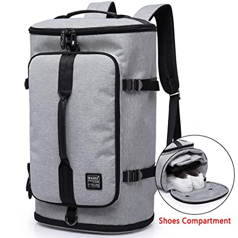 326d4e9c0f4 KAKA Travel Duffel Backpack, Gym Backpack Outdoor Travel Bag with Shoe  Compartment, Weekender Overnight Convertible Bag Water-Resistant College  Laptop ...