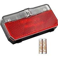 nean Fietsachterlicht met reflector en StVZO-goedkeuring incl. batterijen, reflectoren met reflector, led-achterlicht…