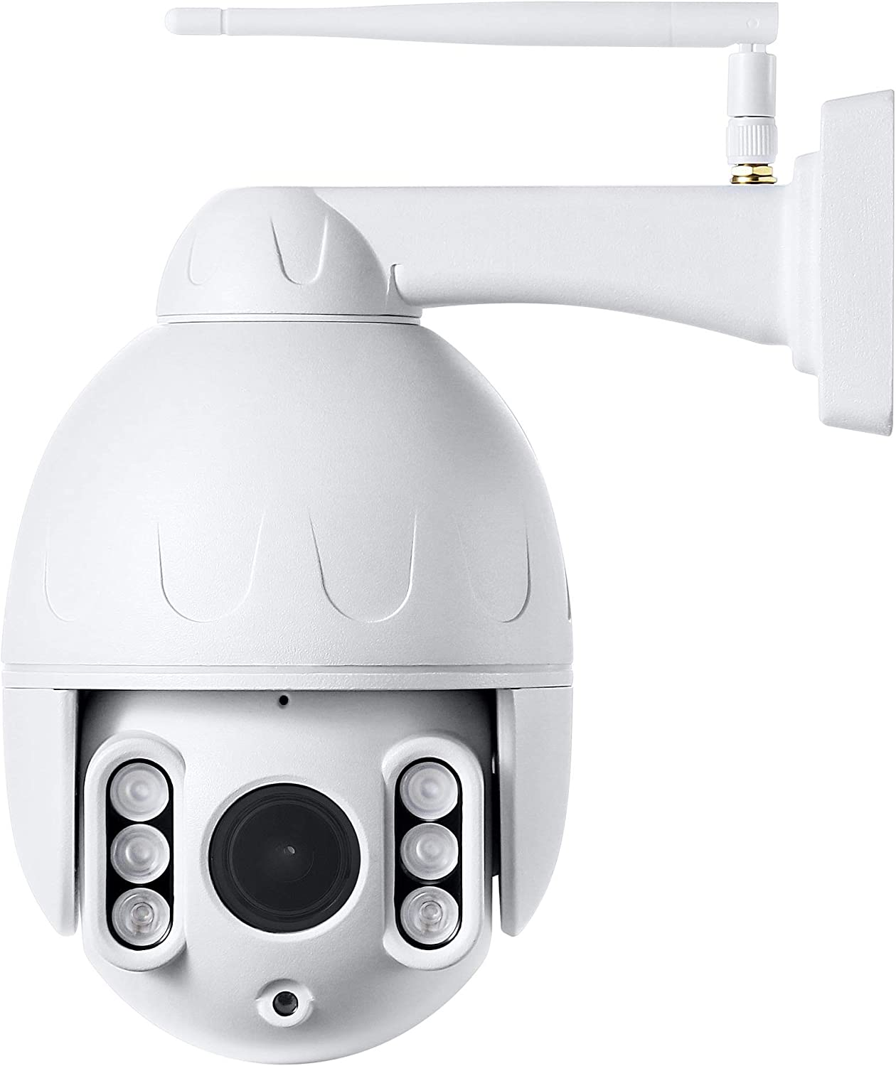 Outdoor PTZ 2.4G WiFi Security Camera Wireless Surveillance HD 1080P Pan Tilt Zoom 5X Optical 165ft Night Vision Two-Way Audio IP66 Weatherproof Motion Detection E-Mail Push Alerts AT-200PW
