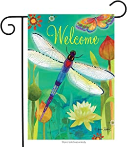 Briarwood Lane Dragonfly Dream Spring Garden Flag Welcome Dragonflies 12.5