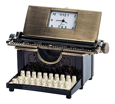 Reloj en miniatura, miniatura Reloj - Mesa Reloj máquina de escribir: Amazon.es: Relojes