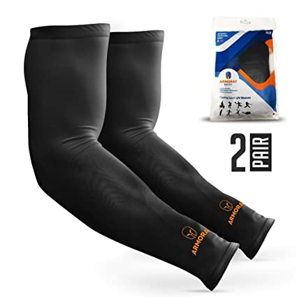 1698a9b974 ARMORAY Arm Sleeves for Men or Women - Compression Warmers to Cover Tattoo  - For Basketball