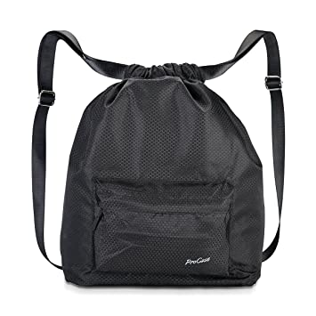 ProCase Water-resistant Gym Bag, Quality Drawstring Backpack Unisex Sports  Bag for Swimming, 50a1d994be