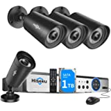 Hiseeu 5MP Security Camera System,H.265+ 8CH 5MP Home Surveillance DVR with 4Pcs 5MP Wired Indoor/Outdoor Camera,Face&Human D