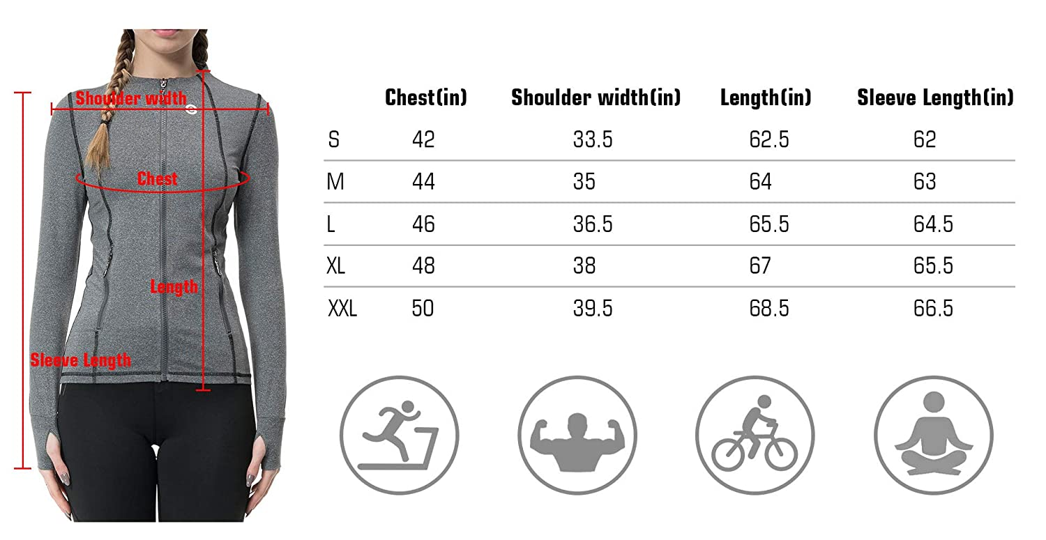 bbd72e403cde0 Amazon.com: Speverdr Women's Workout Track Jackets Slim Fit Lightweight  Full-Zip Running Yoga Activewear: Clothing