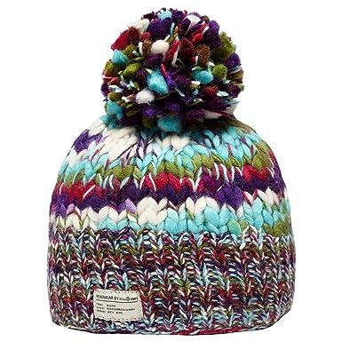 8ab3764e544 Kusan Womenâ€TMs Rainbow Bobble Hat  Amazon.co.uk  Clothing