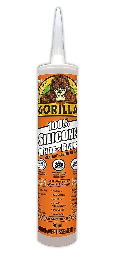 amazon com gorilla white 100 percent silicone sealant caulk rh amazon com
