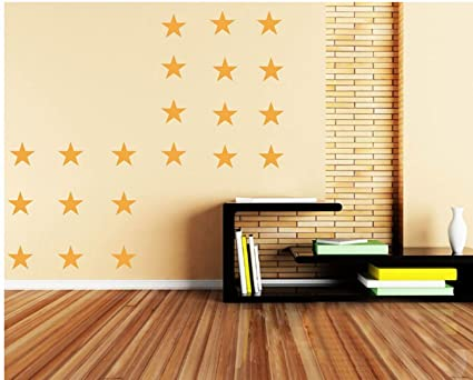 Amazon.com: 3 Colors Five-pointed Stars DIY Wall Stikers Home ...