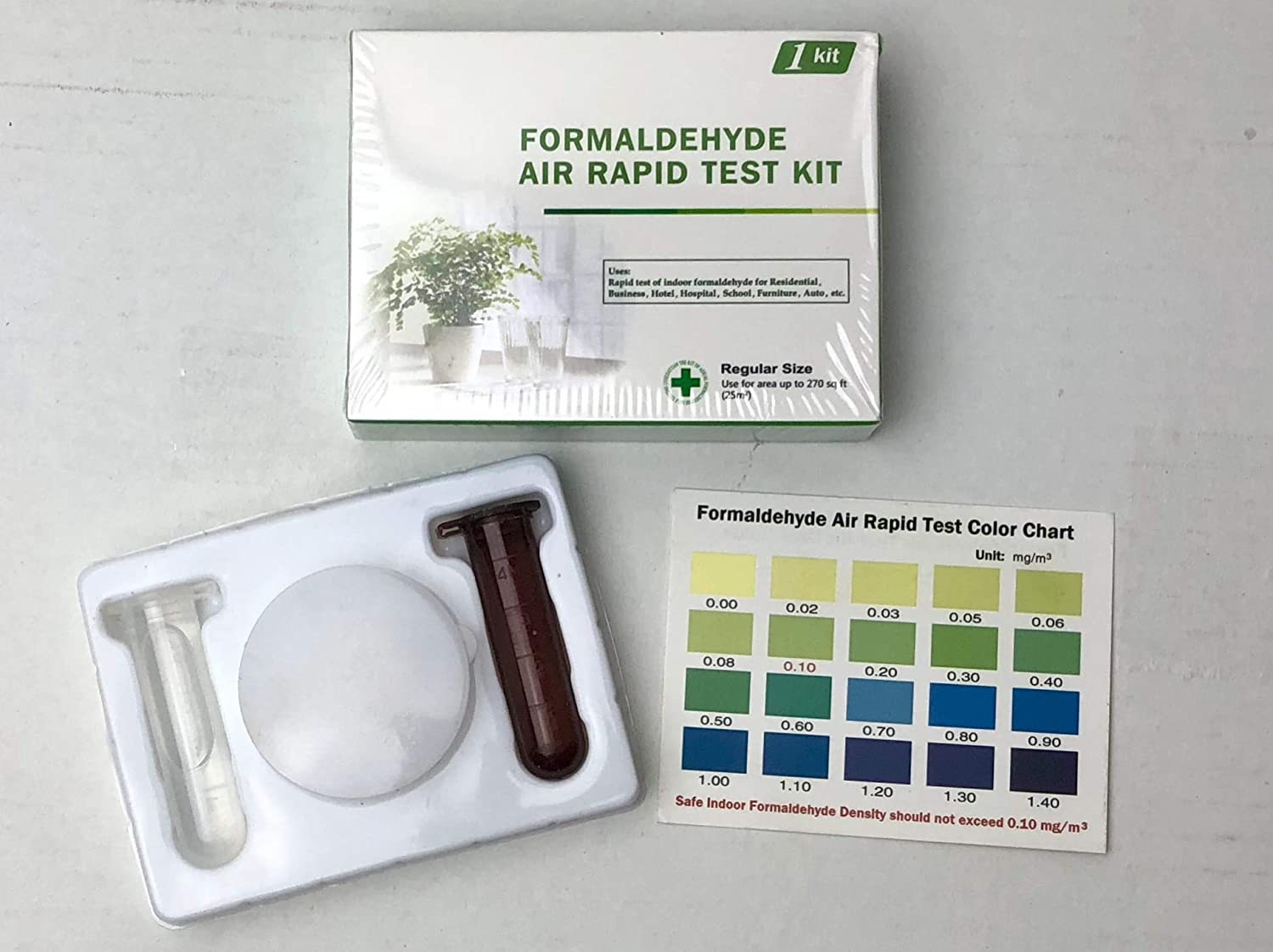 Formaldehyde Air Rapid Test Kit, 5th Generation, DIY Testing Indoor Air Lyusejiayuan