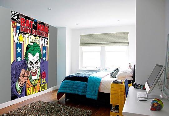 1 Wall Papier Peint Facile À Poser Motif Le Joker De Batman Comic