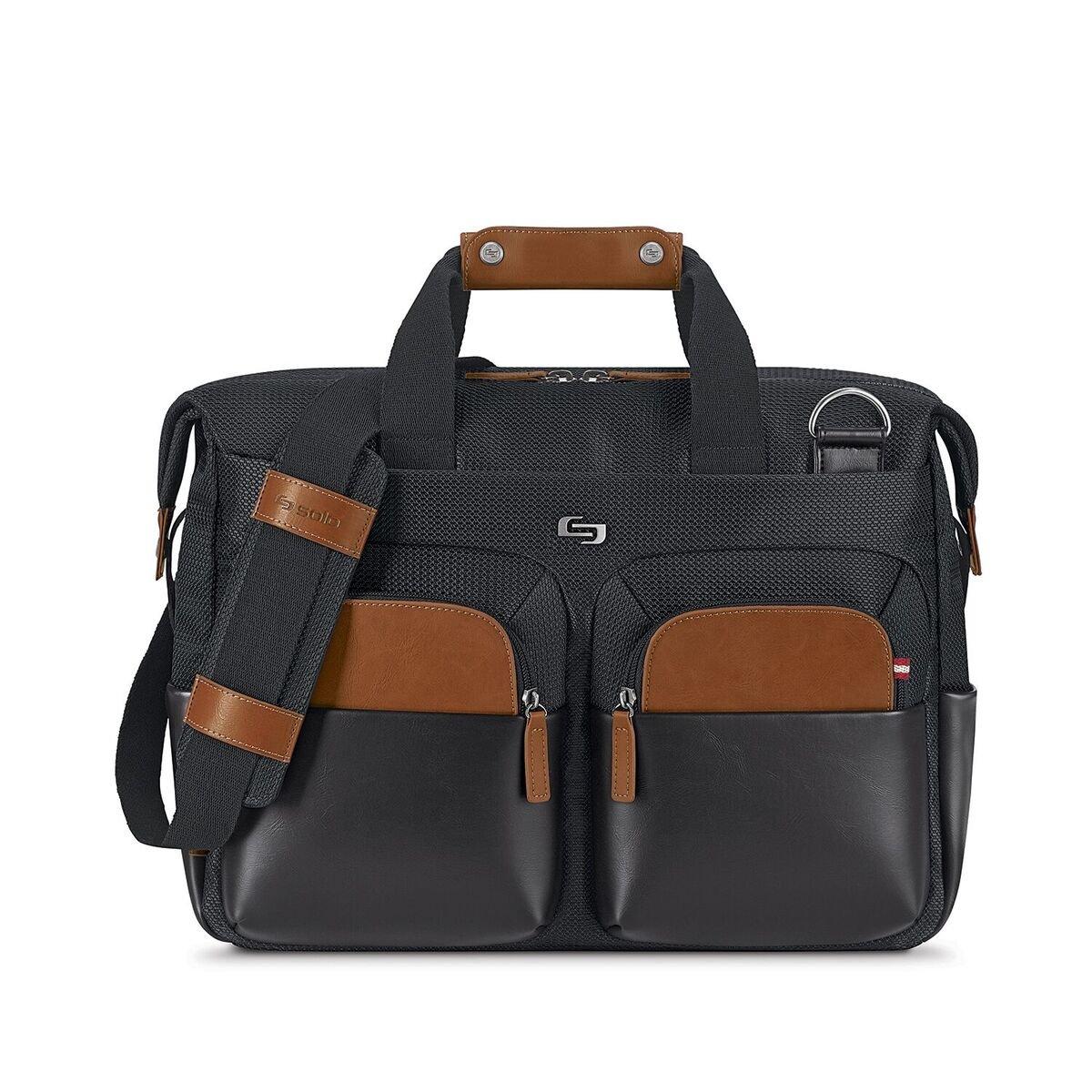 Solo Sag Harbor 15.6 Laptop Briefcase, Black