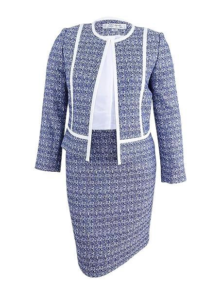 Amazon.com: Tahari por Arthur S. Levine traje Tweed falda ...