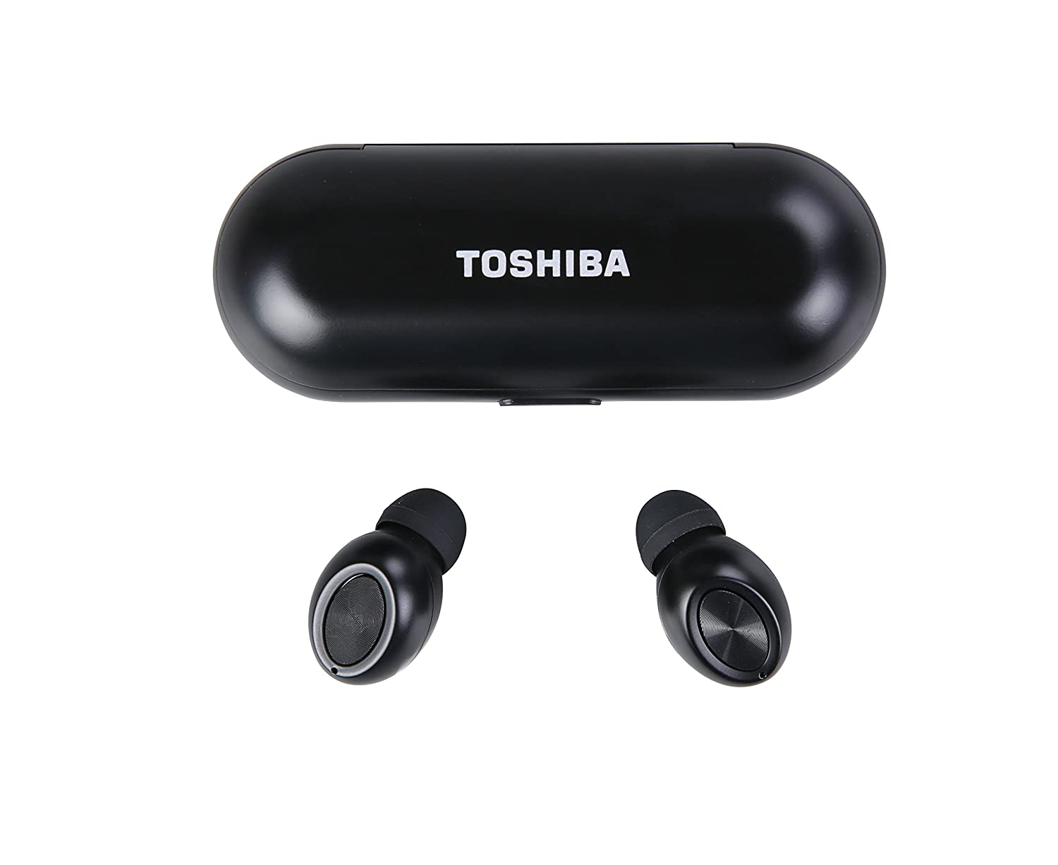d420fafedea Amazon.com: Toshiba RZE-BT700E True Wireless Stereo Sweat-Resistant  Bluetooth 4.1 Earphones with Built-in Microphone up to 30' (10m) Black:  Electronics