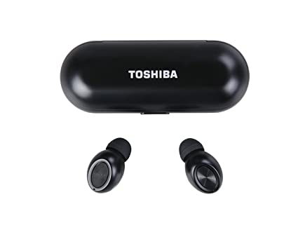 58a6a2a9669 Amazon.com: Toshiba RZE-BT700E True Wireless Stereo Sweat-Resistant  Bluetooth 4.1 Earphones with Built-in Microphone up to 30' (10m) Black:  Electronics