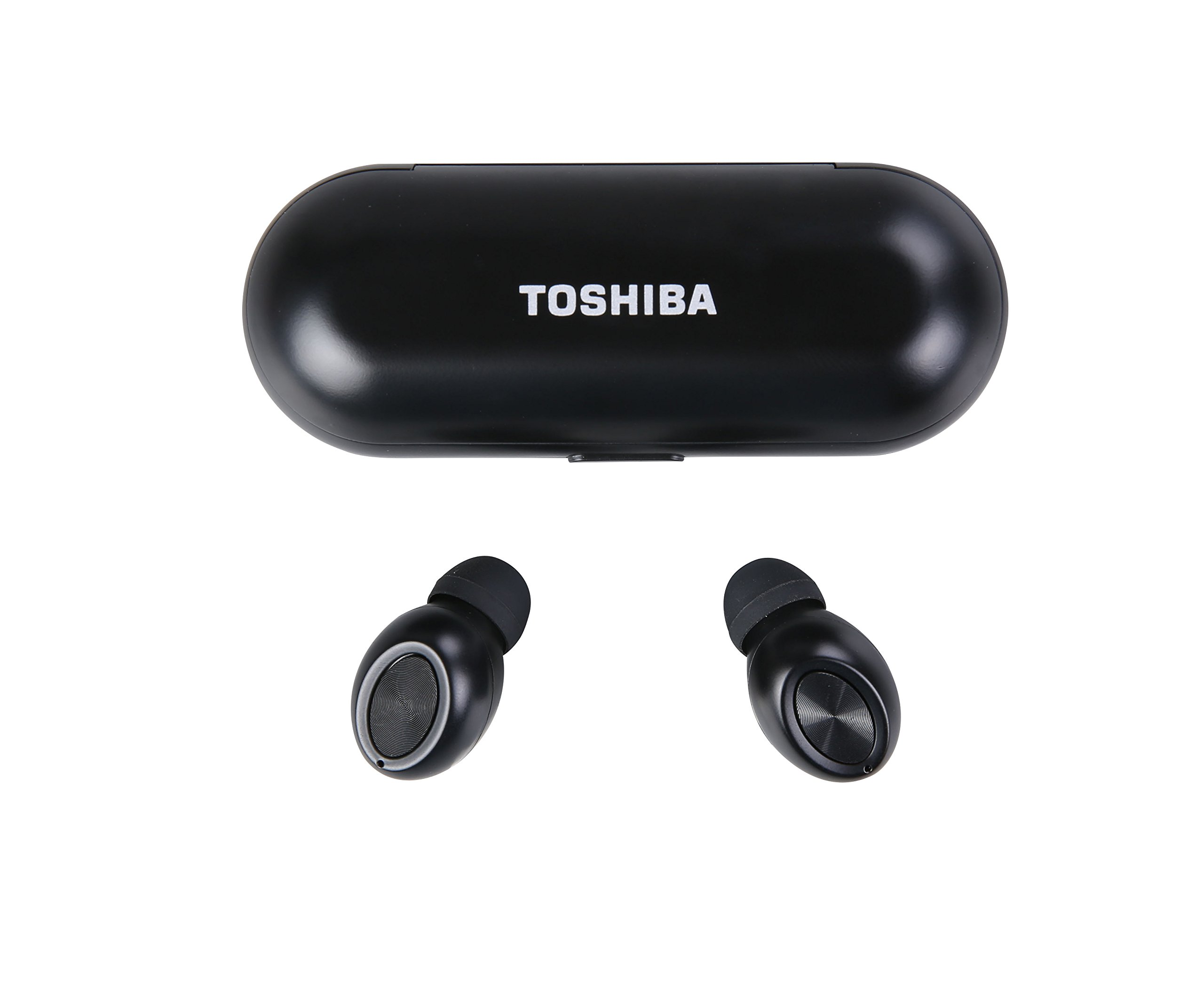 Toshiba True Wireless Stereo Sweat-Resistant Bluetooth Earphones Black (RZE-BT700E) by Toshiba