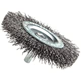 "Forney 72254 Wire Wheel Brush, Coarse Crimped with 1/4"" Hex Shank, 3"""