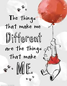"""Eureka Classroom Posters, Measures: 17"""" x 22"""" - Winnie the Pooh - The Things That Make Me Different"""