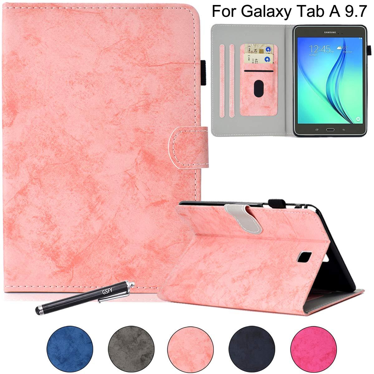 超ポイントアップ祭 Galaxy Tab Tab A B07KWQG5PH 9.7ケース、Newshine フリップスマートシェル [キックスタンド] ケースカバー マグネット開閉 マグネット開閉 [自動ウェイク/スリープ機能] [カードソケット] Samsung Galaxy Tab A 9.7インチタブレットSM-T550用 DC-Pink B07KWQG5PH, パンプスとブーツ専門店 NOTGiulia:5d49c3a6 --- a0267596.xsph.ru