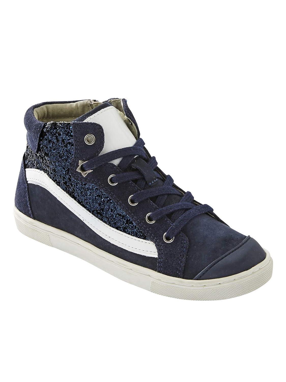 755c96b0e VERTBAUDET Zapatillas de caña Alta para niña de Piel y Brillantes   Amazon.es  Deportes y aire libre