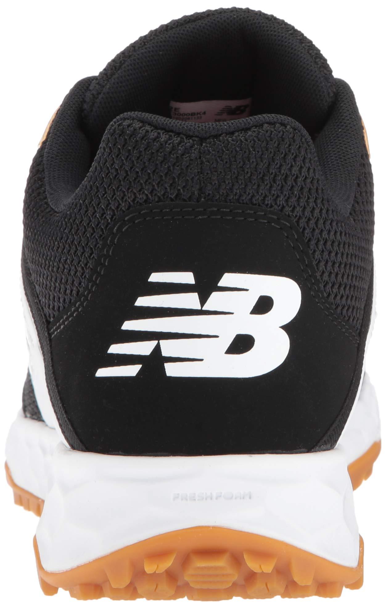 New Balance Men's 3000v4 Turf Baseball Shoe, Black/White, 5 D US by New Balance (Image #2)