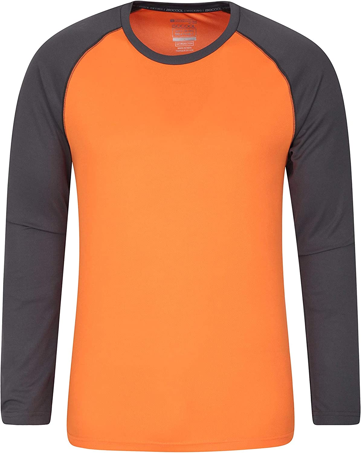 Mountain Warehouse Endurance Mens Top Gym Long Sleeves for Winter Travelling Walking Highly Breathable Tee Quick Dry T-Shirt UPF50 Protection Tee Shirt