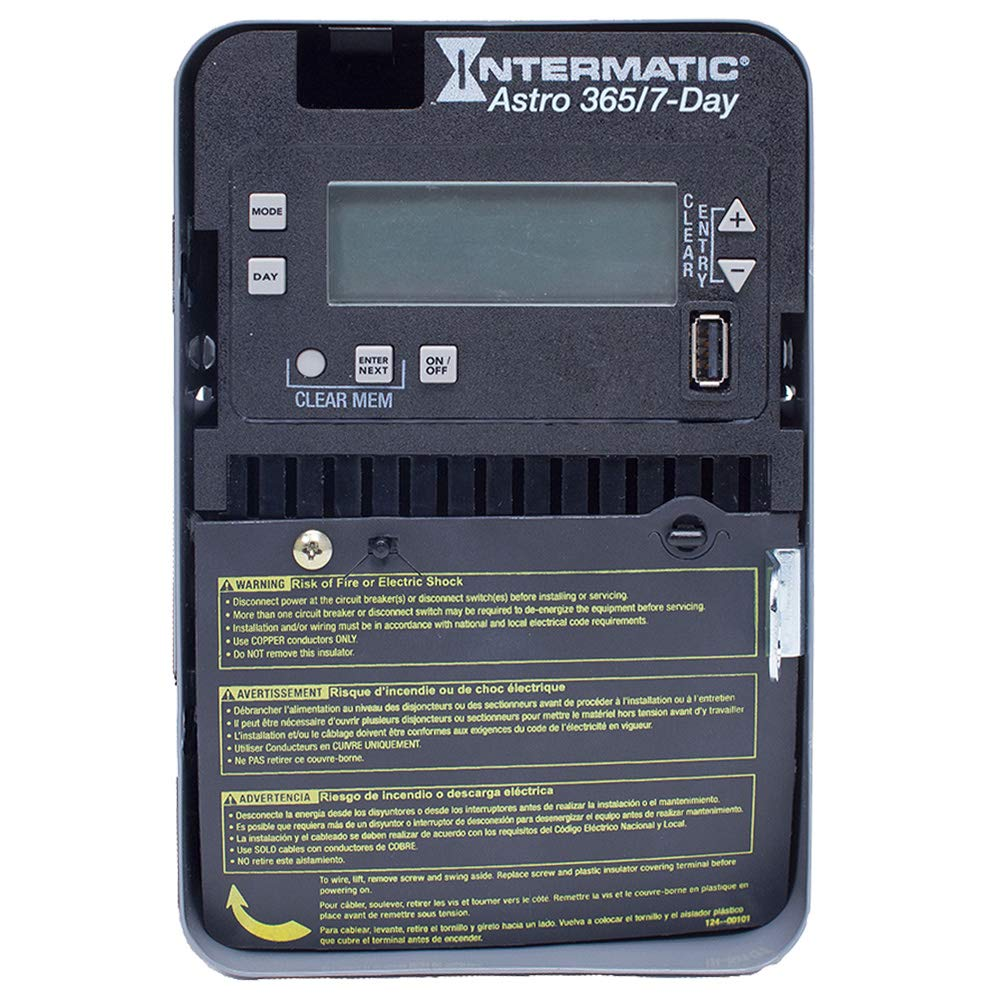 Intermatic Et2805C On/Off Et2800 Series Astronomic Basic Plus Electronic Control 120-277 Volt Ac 30 Amp 7/365 Days