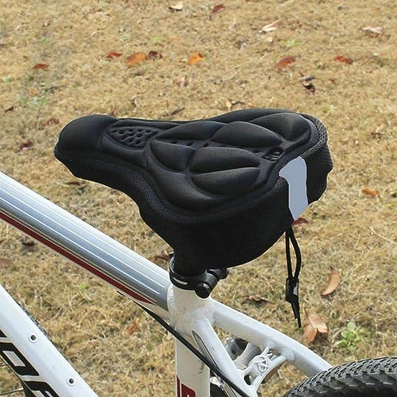 SGODDE impermeable color negro sill/ín acolchado sill/ín de espuma con memoria de forma extra c/ómoda para bicicleta de monta/ña bicicleta de carretera Funda para asiento de bicicleta