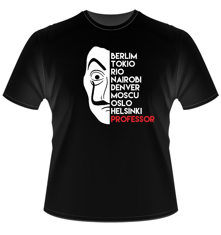 T-Shirt Tailles Unisexes S-XL Noms T Shirt La CASA De Papel Instabuy La Maison de Papier